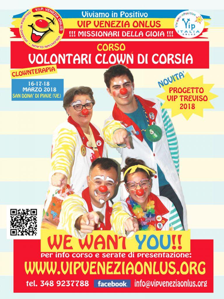 corso vip venezia onlus clownterapia